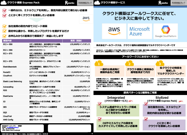 クラウド構築サービスカタログ