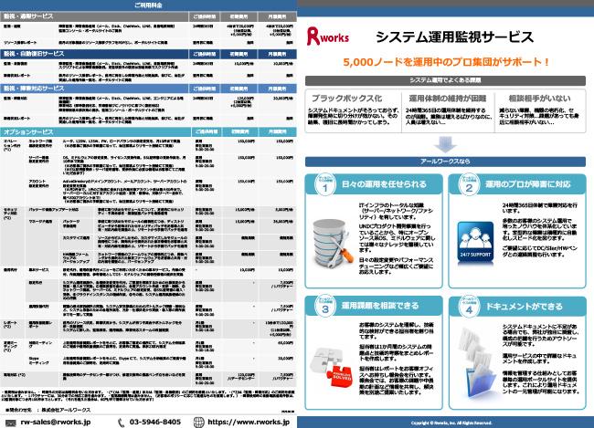 システム運用代行サービスカタログ